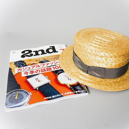 override bunjirowカンカン帽